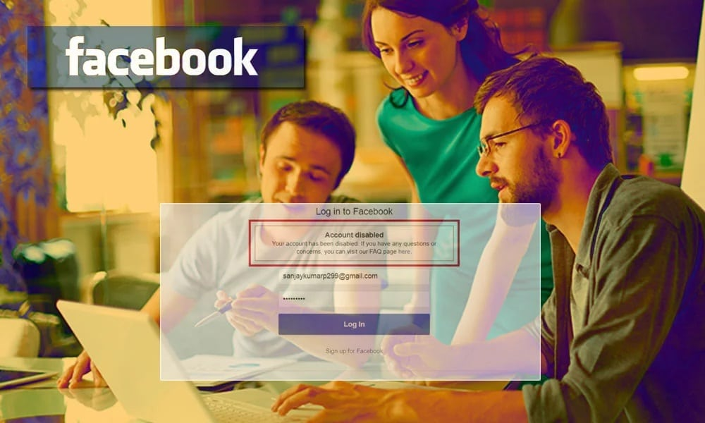 Facebook after ID disabled