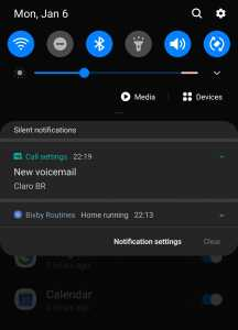 voicemail notification